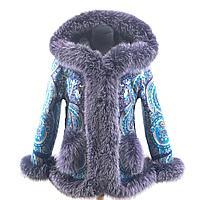 Куртка модная с мехом