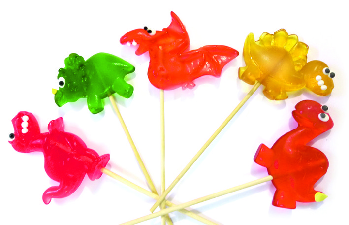 Леденец «Динозаврики» 33 гр  (20 шт. в упаковке)