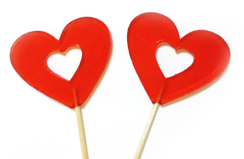 Леденец «Сердце» 22 гр  (30 шт. в упаковке)