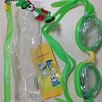 Очки для плавания с берушами в чехле для детей