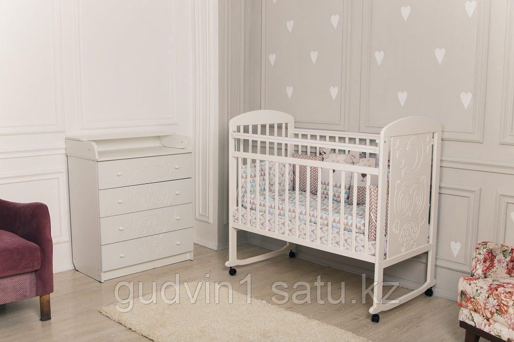 Кровать детская Incanto Civetta колесо-качалка белый 01-06294