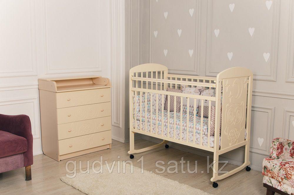 Кровать детская Incanto Civetta колесо-качалка слоновая кость 01-06295