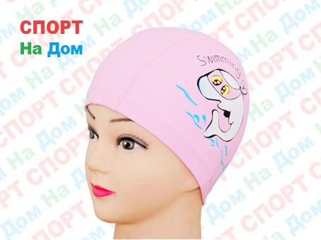 Шапочка для плавания SWIMMING (цвет розовый )