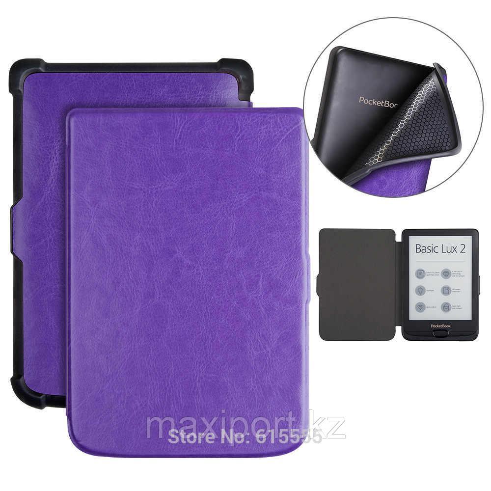 Pocketbook чехол 616\627\632 606 628 633 цвет фиолетовый