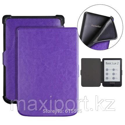 Pocketbook чехол 616\627\632 606 628 633 цвет фиолетовый, фото 2