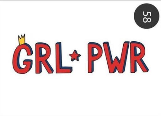 "Открытка ""GRL PWR"" (Сила девушек)"
