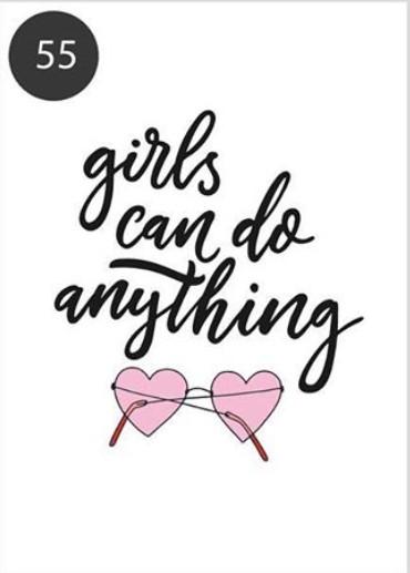 """Открытка """"Girls can do anything"""" (Девушки могут делать все, что угодно)"""