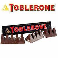 Шоколад Toblerone Dark Chocolate темный 100гр. Швейцария (черный)