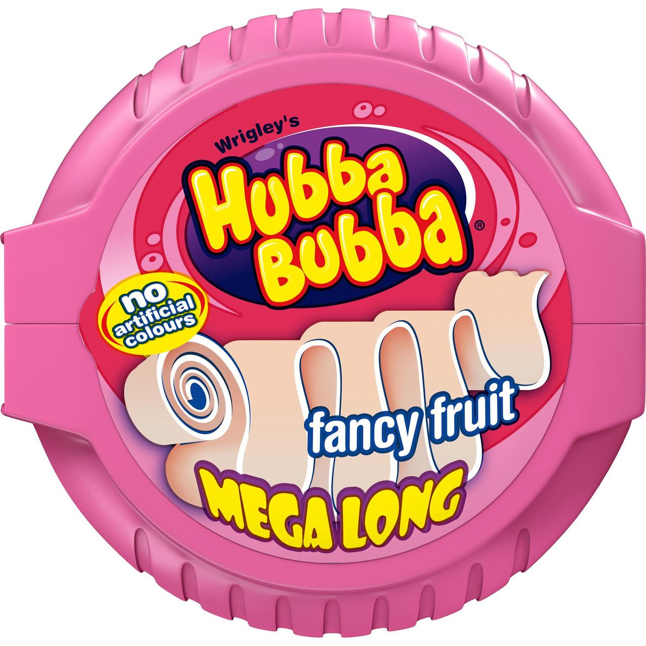 Жевательная резинка в рулетке  Хубба-Бубба  hubba bubba fancy fruit  (розовая) 56,7 гр