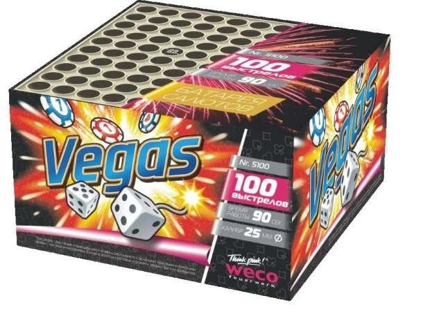 """Батарея салютов """"Vegas"""" 100 выстрелов"""