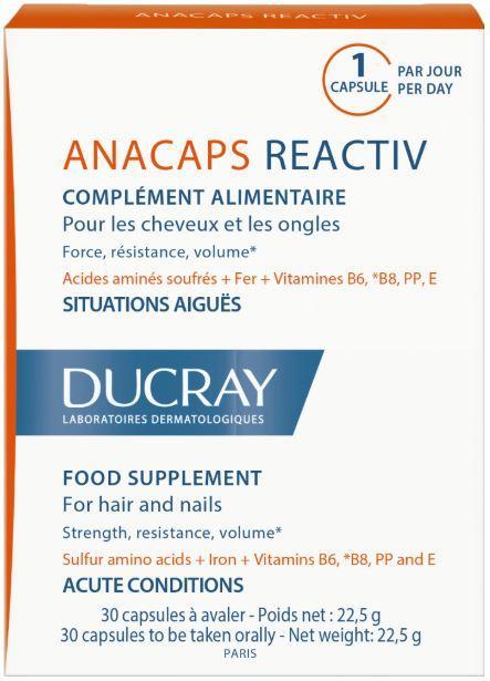 Витамины для волос и ногтей «Reactiv», 30 капсул