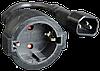 Переходник-удлинитель CyberPower с IEC С14(Male) на евро-розетку(Female) типа Schuko (кабель-15 см.)
