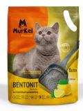 MurKel 20л 16кг Лимон (круглый) комкующий наполнитель для туалета кошек, фото 1