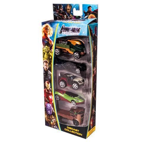 Набор игрушечных гоночных машин DIECAST COLLECTION [5 шт.] (Супергерои)