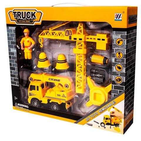 Игровой набор строительный TRUCK CITY BUIL DERS DIY TOYS REMOVABLE