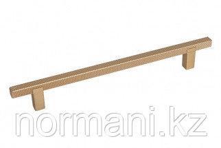 Мебельная ручка скоба, замак, размер посадки 160мм, отделка золото матовое