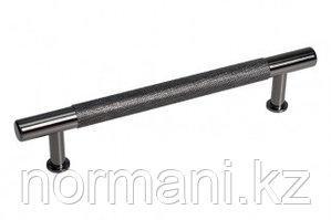 Ручка-скоба 128мм, отделка никель черный глянец