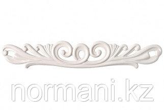 Мебельная ручка скоба, замак, размер посадки 128мм, отделка белый глянцевый