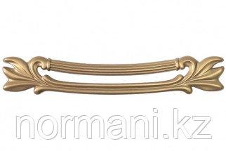"""Мебельная ручка скоба, замак, размер посадки 128 мм, цвет золото матовое """"Милан"""""""