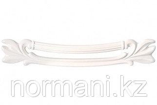 Ручка-скоба 128мм, отделка белый глянцевый