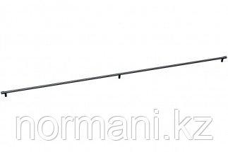 Мебельная ручка скоба, замак, размер посадки 1172мм, отделка черный матовый