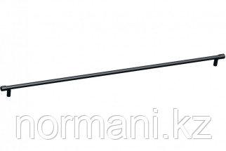 Мебельная ручка скоба, замак, размер посадки 572мм, отделка черный матовый