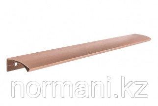 Ручка-профиль накладная L.350мм, отделка медь шлифованная