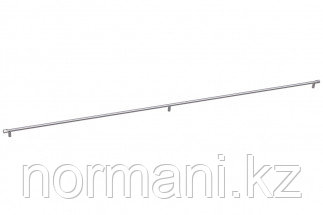 Мебельная ручка скоба, замак, размер посадки 1172мм, отделка никель глянец шлифованный