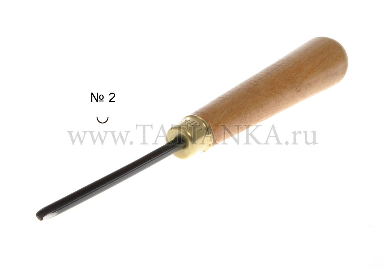 Стамеска прямая - полукруглая № 2, 3 мм