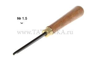 Стамеска прямая - полукруглая № 1.5, 2.5 мм