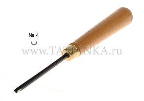 Стамеска прямая - полукруглая № 4, 4.5 мм