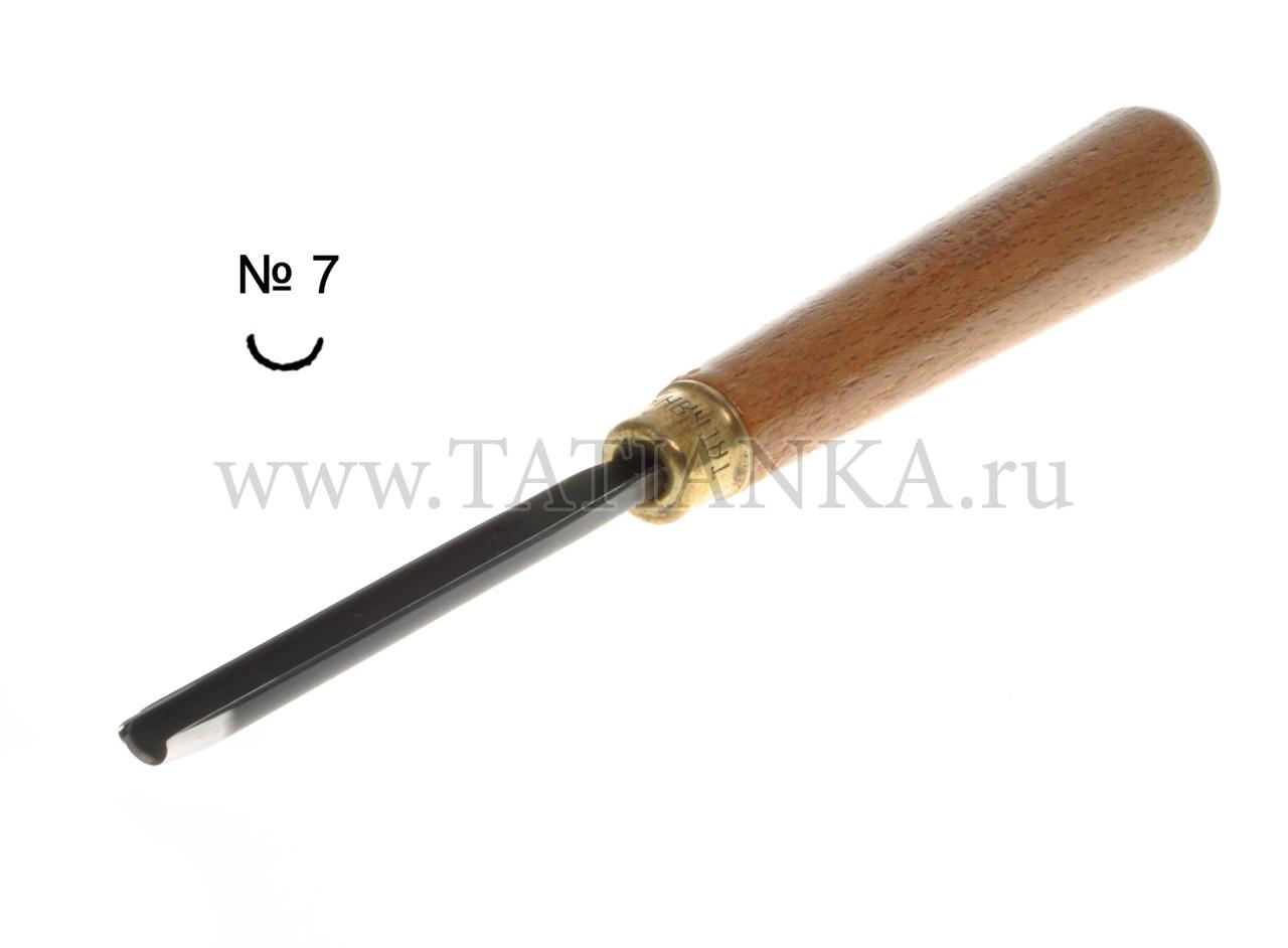 Стамеска прямая - полукруглая № 7,  7 мм