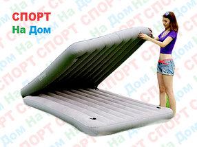 Надувной матрас-кровать Intex 67744 (серый цвет)