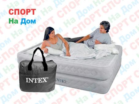 Кровать надувная Intex 64464 (Габариты: 203 х 152 х 51 см) со встроенным насосом
