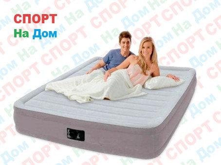 Надувная кровать Intex 67770 (Габариты: 152 х 203 х 33 см) со встроенным насосом, фото 2