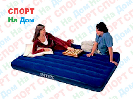 Двуспальный надувной матрас Intex 68759 Синий (Габариты: 203 х 152 х 22 см)