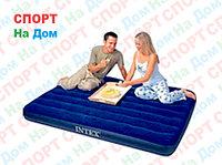Надувной матрас полуторка Intex 68758 Синий (Габариты: 137 х 191 х 22 см)