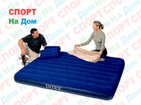 Надувной матрас Intex 68765 Синий (Габариты: 152 х 203 х 22 см)