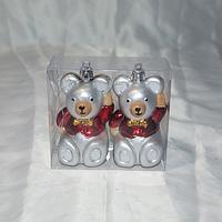 """Новогодние игрушки на ёлку """"Мышки"""" - 2 шт (8 см)"""