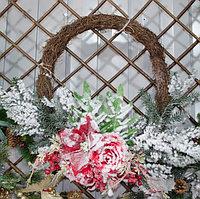 Новогодние венки украшение - премиум №8 (55 см), фото 1