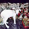 """Премиум новогодняя фигура животных """"Олень"""" 60 см"""