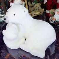 """Премиум новогодняя фигура животных """"Медведица с медвежонком"""" 22х30 см, фото 1"""