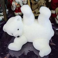 """Премиум новогодняя фигура животных """"Медвежонок"""" 25 см"""