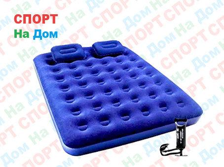 Надувной матрас Bestway 67374 (Габариты: 203 х 153 х 22 см) с насосом и подушками, фото 2