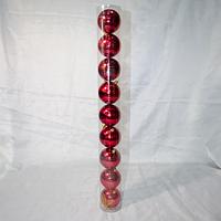 Набор новогодних шаров на ёлку - 9 шт (8 см), фото 1