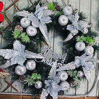 Новогодние венки украшение - премиум №6 (O 65 см), фото 1