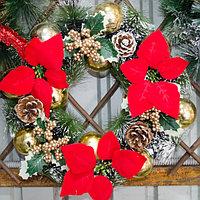 Новогодние венки украшение - премиум №2 (O 35 см), фото 1