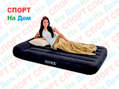 Черный надувной матрас Intex 66767 (Габариты: 191 х 99 х 23 см)