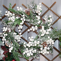 Новогодние венки украшение - премиум №7 (O 35 см), фото 1