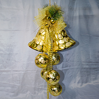 Новогодние украшение 70 см (шары 10 см, колокола 15 см), фото 1